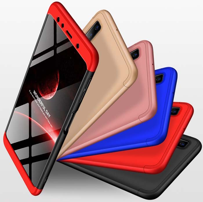 قاب 360 درجه سامسونگ GKK 3 in 1 Full Coverage Matte Case Galaxy A7 2018 | A750 |