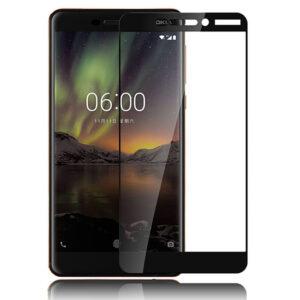 محافظ صفحه تمام چسب پوشش کامل نوکیا MB Full Coverage 5D Glass Nokia 6.1 | 6 2018