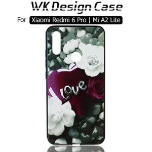قاب محافظ شیائومی WK Design Floral Painted Case Xiaomi Redmi 6 Pro | Mi A2 Lite