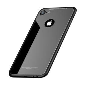 قاب اوریجینال پشت گلس اپل Luxury TPU Bamper + Back Glass Cover | iphone 6 Plus