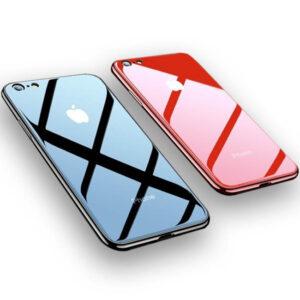 قاب اوریجینال پشت گلس آیفون Luxury TPU + Back Glass Cover | iphone 7