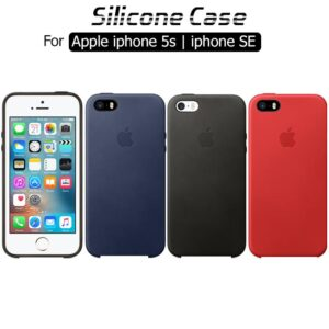 کاور سیلیکونی اصلی اپل Liquid Flexible Soft Silicone Case iphone 5s | iphone SE