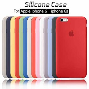 کاور سیلیکونی اصلی اپل Liquid Silicone Soft Rubber Cover iphone 6 | iphone 6s
