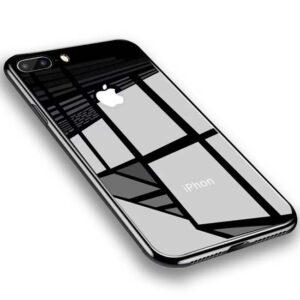 قاب اوریجینال پشت گلس اپل Luxury Slim Temperd Glass Case | iphone 8 Plus