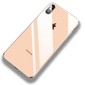 قاب اوریجینال پشت گلس آیفون Luxury Soft TPU + PC Glass Case | iphone X | iphone XS