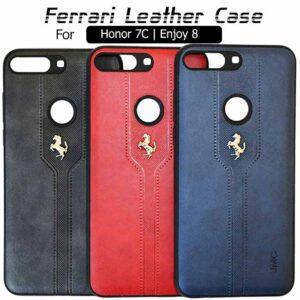 قاب محافظ چرمی فراری آنر Ferrari PU Leather Back Cover Honor 7C | Enjoy 8