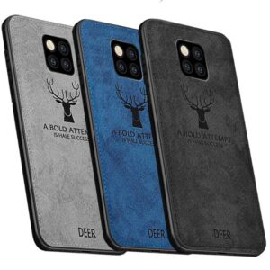 قاب محافظ گوزنی هواوی Silicone Cloth Pattern Deer Case | Huawei Mate 20 pro