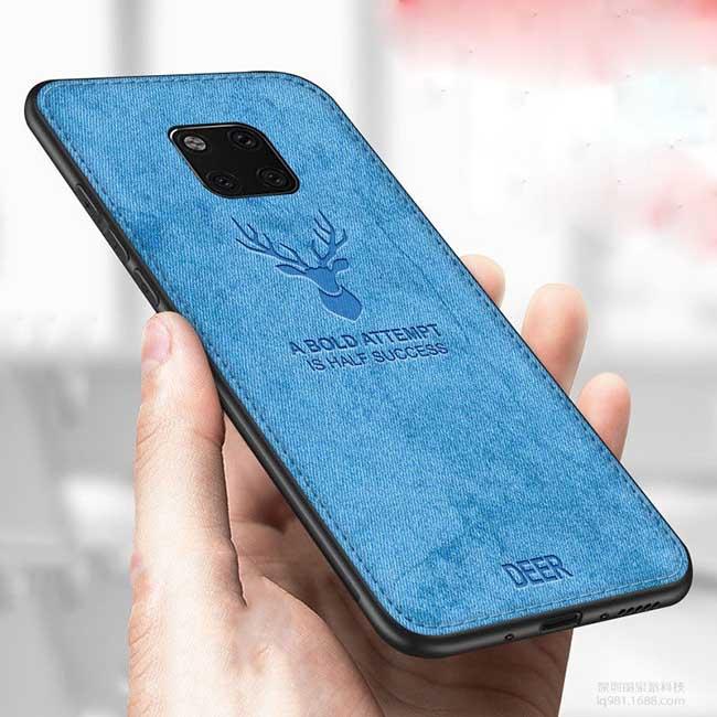 قاب محافظ گوزنی هواوی Silicone Cloth Pattern Deer Case | Huawei Mate 20 pro
