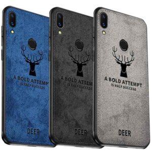 قاب گوزنی هواوی Cloth Texture Silicone Deer Case Huawei Nova 3i | P Smart Plus