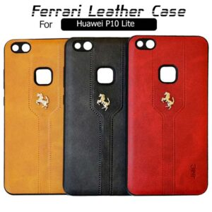 قاب محافظ چرمی فراری هواوی Ferrari Soft Leather Case | Huawei P10 Lite