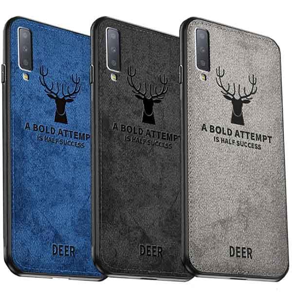 قاب محافظ گوزنی طرح پارچه سامسونگ Cloth Texture Deer Case Galaxy A7 2018 | A750 |