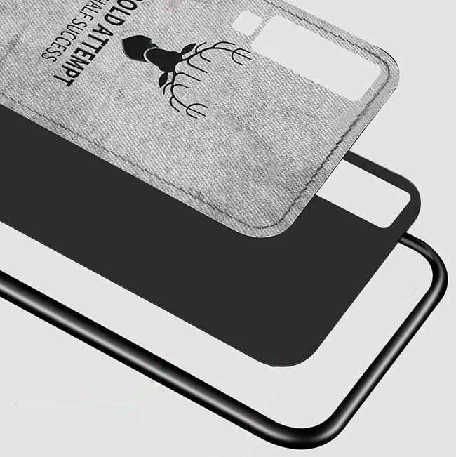 قاب محافظ گوزنی طرح پارچه سامسونگ Cloth Texture Deer Case Galaxy A7 2018 | A750