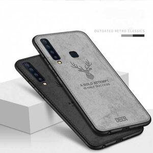 قاب محافظ گوزنی سامسونگ Cloth Texture Deer Case Galaxy A9 2018   A9 Star Pro   A9s