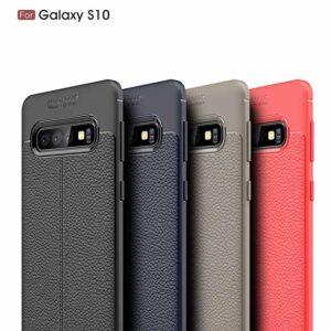 قاب محافظ اتو فوکوس سامسونگ Auto Focus Litchi TPU Texture Case | Galaxy S10
