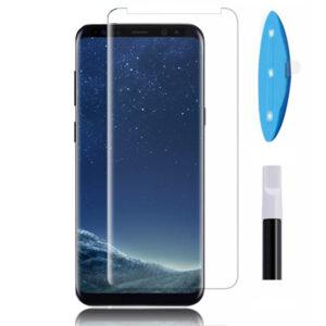 محافظ صفحه یو وی سامسونگ 3D Curved UV Light Liquid Full Glue Glass | Galaxy S8