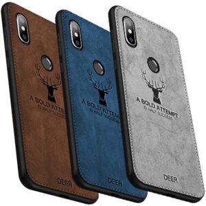 قاب گوزنی شیائومی Cloth Texture Silicone Deer Case Xiaomi Mi A2 Lite   Redmi 6 pro