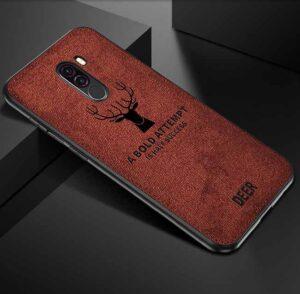 قاب محافظ گوزنی شیائومی Cloth Texture Deer Case Xiaomi Poco F1 | Pocophone F1