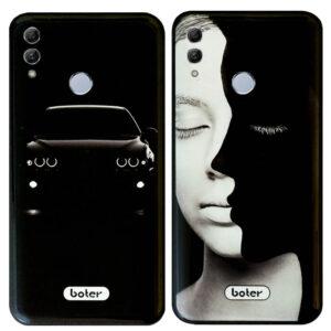 قاب محافظ طرح سرامیک فانتزی Boter Tempered Glass Black Design Case | Honor 10 Lite
