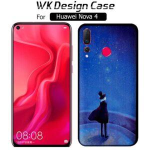 قاب فانتزی هواوی WK Soft TPU Blue Night Design Matte Case | Huawei Nova 4