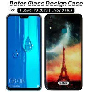 قاب براق طرح سرامیک هواوی Boter Glass Eiffel Case Huawei Y9 2019 | Enjoy 9 Plus