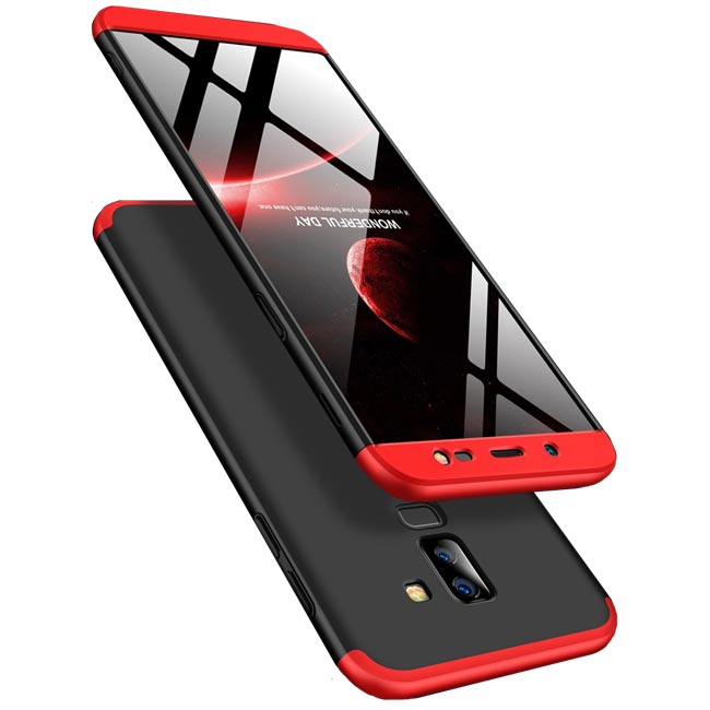 قاب سه تیکه گوشی سامسونگ GKK Full Body 3 in 1 Matte Case | Galaxy A6 Plus |