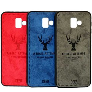 قاب گوزنی سامسونگ Silicone Cloth Pattern Deer Case Galaxy j6 Plus | j6 Prime