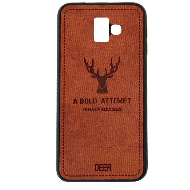 قاب گوزنی سامسونگ Silicone Cloth Pattern Deer Case Galaxy j6 Plus   j6 Prime