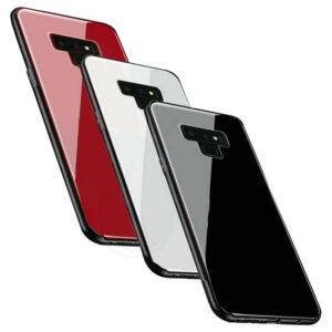 قاب پشت گلس سامسونگ Luxury TPU Bamper + Back Glass Cover | Galaxy Note 9