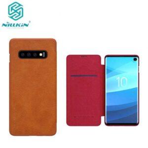 کیف Qin نیلکین سامسونگ Nillkin Qin Series Leather Flip Cover | Galaxy S10