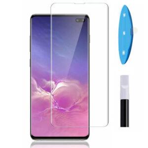 محافظ صفحه تمام منحنی سامسونگ Curved Full Glue UV Nano Glass | Galaxy S10 Plus