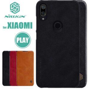 کیف نیلکین شیائومی Nillkin Flip PU Leather Qin Luxury Business Cover | Xiaomi Mi Play