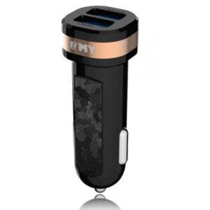 شارژر فندکی سریع امی EMY 2.1A Dual USB Port Car Charger | MY-121