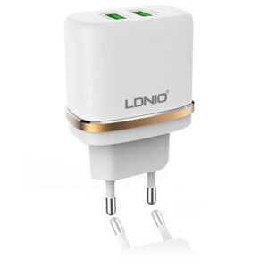 شارژر دیواری سریع الدینیو LDNIO 2 USB Port Travel Charger | DL-AC52