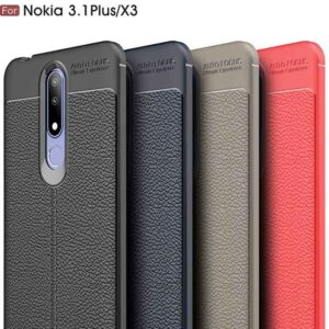 قاب طرح چرمی نوکیا Auto Focus Silicone Texture Case Nokia 3.1 Plus   X3