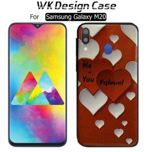 قاب براق طرح قلب سامسونگ WK Soft TPU Love Design Case | Galaxy M20