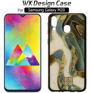 قاب براق طرح سرامیک سامسونگ TC Ocean Design Glass Back Cover | Galaxy M20