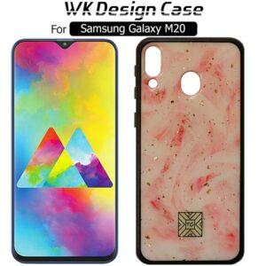 قاب براق طرح سرامیک سامسونگ TC Design Pink Color Glass Case | Galaxy M20