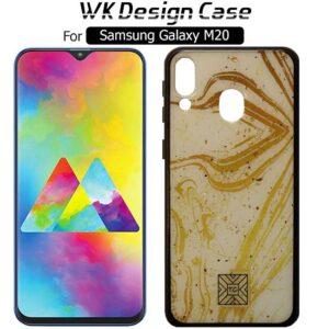 قاب براق طرح سرامیک سامسونگ TC Glass Yellow Bright Design Case | Galaxy M20