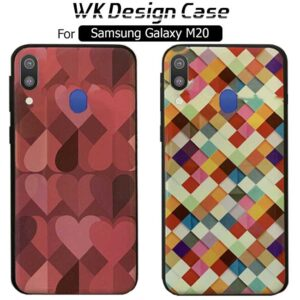 قاب براق طرح دار سامسونگ WK Desgin Soft Silicone Colorful Case | Galaxy M20