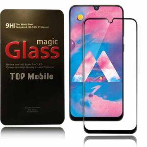 محافظ صفحه تمام چسب سامسونگ Magic Full Tempered Glass Guard | Galaxy M30