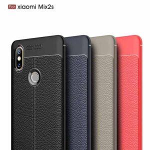 قاب طرح چرمی شیائومی Auto Focus Soft Skin Texture Case | Xioami Mi Mix 2S