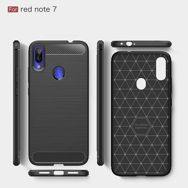 قاب فیبر کربن شیائومی Rugged Armor Shock-Proof Brushed Case | Xiaomi Redmi Note 7