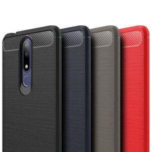 قاب فیبر کربن نوکیا Rugged Armor Brushed Case Nokia X3 | Nokia 3.1 Plus
