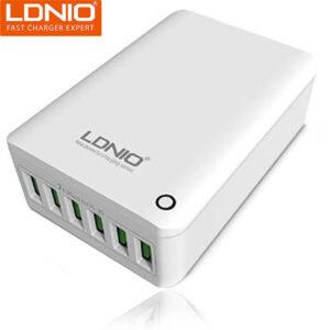 هاب شارژر مسافرتی الدینیو LDNIO 6 USB Port Auto-ID 7A Quick Charger | A6703