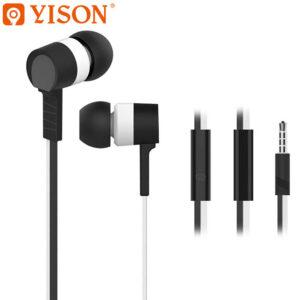 هندزفری باسیم وایسون YISON Flat Wire With Mic in-Ear Headset | Celebrat D2