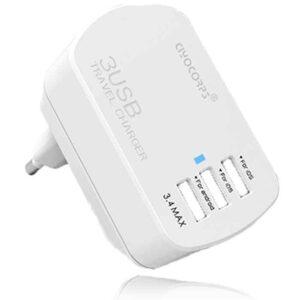 شارژر مسافرتی سریع سیوکورپس CIYOCORPS 3 port wall fast charger | ES-D20