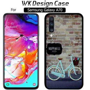 قاب محافظ مات سامسونگ WK Matte Bicycle Design Case | Galaxy A70