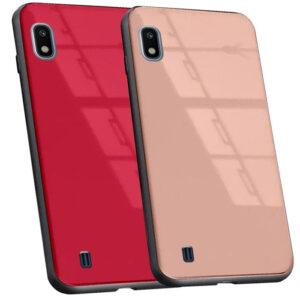 قاب محافظ براق پشت طلقی سامسونگ Soft TPU Glass Pattern Case | Galaxy A10