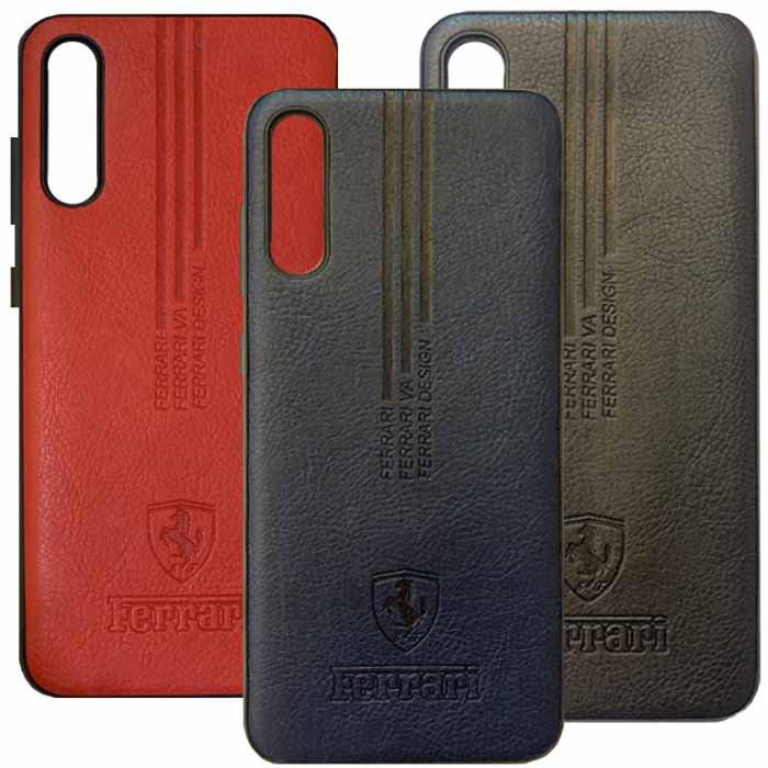 قاب محافظ فراری سامسونگ Ferrari Soft PU Leather Case | Galaxy A50