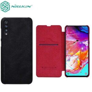 کیف نیلکین سامسونگ Nillkin Qin Series Natural Leather Case | Galaxy A70